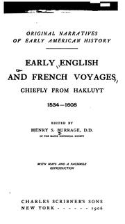 Cover of: Early English and French voyages | Henry S. Burrage