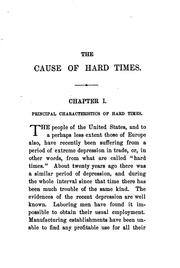 Cover of: The cause of hard times by Uriel H. Crocker