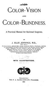 Cover of: Color-vision and color-blindness | John Ellis Jennings