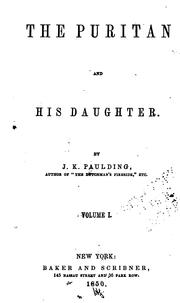 Cover of: The puritan and his daughter by Paulding, James Kirke