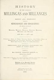 Cover of: History of the families Millingas and Millanges by G. T. Ridlon