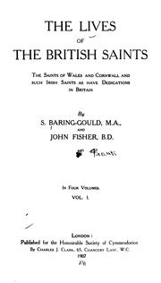Cover of: The lives of the British saints by Sabine Baring-Gould
