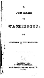 Cover of: A new guide to Washington by George Watterston