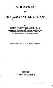 Cover of: A history of the ancient Egyptians | James Henry Breasted