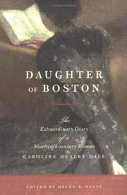 Cover of: Daughter of Boston | Caroline Wells Healey Dall