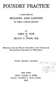 Cover of: Foundry practice | James M. Tate
