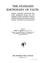 Cover of: The standard dictionary of facts | Ruoff, Henry W.