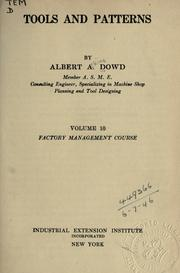 Cover of: Tools and patterns | Albert Atkins Dowd