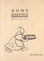 Cover of: Home bakings by Edna Evans