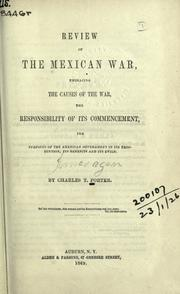 Cover of: Review of the Mexican War by Porter, Charles T.