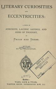 Literary curiosities and eccentricities