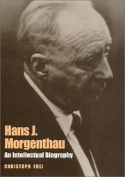 Cover of: Hans J. Morgenthau by Christoph Frei