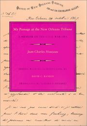 Cover of: My passage at the New Orleans tribune | Jean-Charles Houzeau