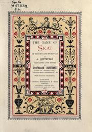 Cover of: The game of skat in theory and practice | A. Hertefeld