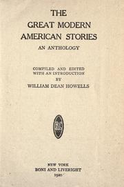 Cover of: The great modern American stories by William Dean Howells