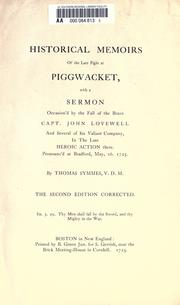 Cover of: Historical memoirs of the late fight at Piggwacket | Thomas Symmes