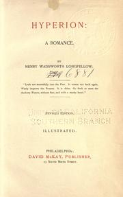 Cover of: Hyperion | Henry Wadsworth Longfellow