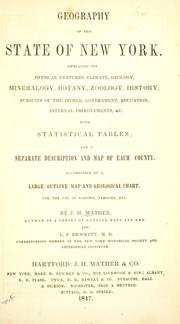 Cover of: Geography of the state of New York by Joseph H. Mather