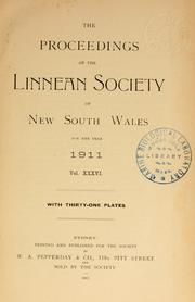 Cover of: Proceedings of the Linnean Society of New South Wales by Linnean Society of New South Wales