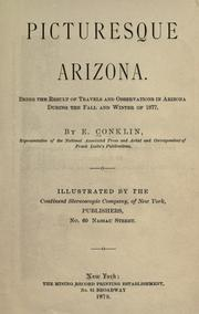 Cover of: Picturesque Arizona by Enoch Conklin