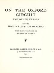 Cover of: On the Oxford circuit, and other verses by Darling, Charles J. Darling Baron