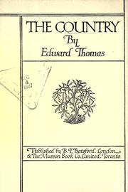 Cover of: The country | Thomas, Edward