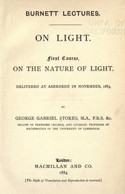 Cover of: On light | Stokes, George Gabriel Sir