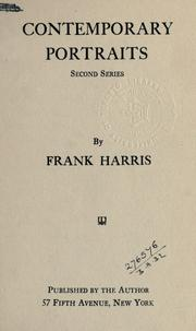 Cover of: Contemporary portraits | Harris, Frank