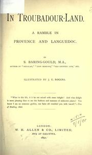 Cover of: In troubadour-land by Baring-Gould, S.
