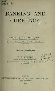 Cover of: Banking and currency | Ernest Sykes