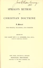 Cover of: Spirago's method of Christian doctrine | Franz Spirago