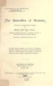 Cover of: The butterflies of Montana | Morton J. Elrod
