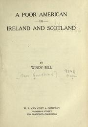 Cover of: A poor American in Ireland and Scotland | Ben Goodkind