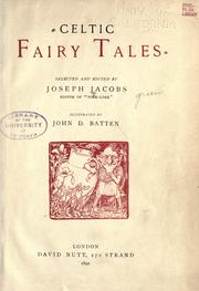 Cover of: Celtic Fairy Tales | Joseph Jacobs