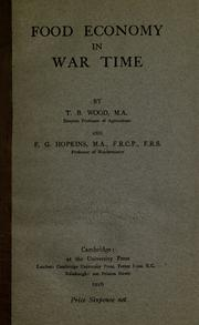 Cover of: Food economy in war time by Thomas Barlow Wood