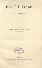 Cover of: Earth dams by Burr Bassell