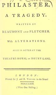 Cover of: Philaster | Francis Beaumont