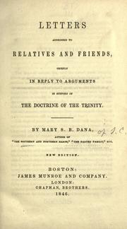 Cover of: Letters addressed to relatives and friends by Mary Dana Shindler