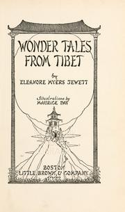Cover of: Wonder tales from Tibet | Eleanore Myers Jewett
