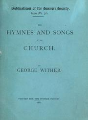 Cover of: The hymnes and songs of the church | Wither, George