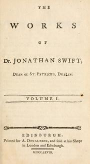 Cover of: The prose works of Jonathan Swift | Jonathan Swift