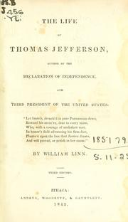 Cover of: The life of Thomas Jefferson | Linn, William