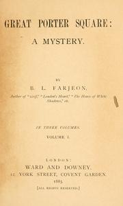 Cover of: Great Porter square: a mystery by B. L. Farjeon