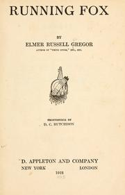 Cover of: Running Fox | Elmer Russell Gregor