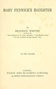 Cover of: Mary Fenwick's daughter by Beatrice Whitby