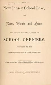 Cover of: Laws, etc by New Jersey.