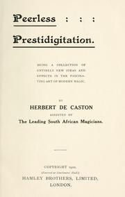 Peerless prestidigitation
