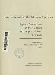 Cover of: Basic research in the mission agencies | National Science Board (U.S.)