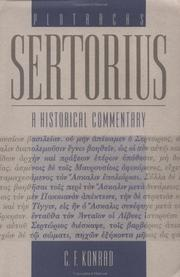 Cover of: Plutarch's Sertorius by Christoph F. Konrad