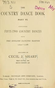 Cover of: The country dance book | Cecil J. Sharp